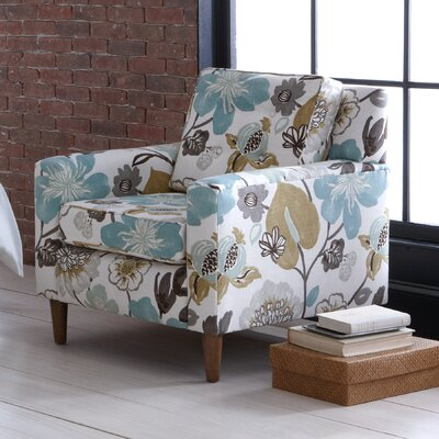 Lakeside Cube Arm Chair Color: Gorgeous Pearl