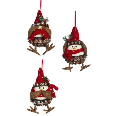3-Piece Cardinal Ornament Set
