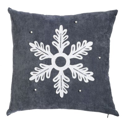 Embellished Snowflake Outdoor Throw Pillow