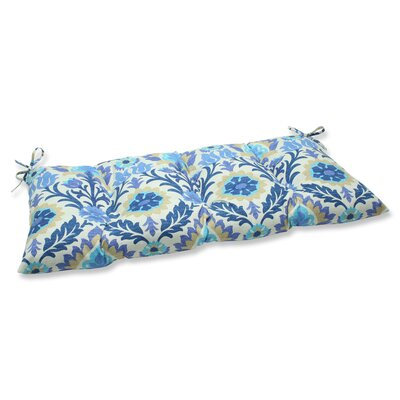 Rockhill Outdoor Loveseat Cushion Fabric: Azure