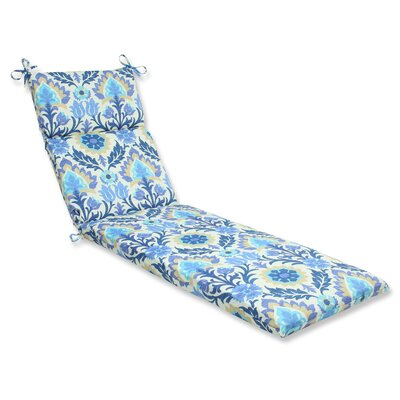 Rockhill Outdoor Chaise Lounge Cushion Fabric: Azure