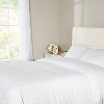 Syracuse All Natural Down Alternative 100% Cotton Filled Blanket Size: Full / Queen, Color: Bright White