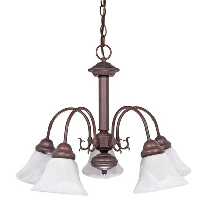 Gurney 5-Light Metal Shaded Chandelier