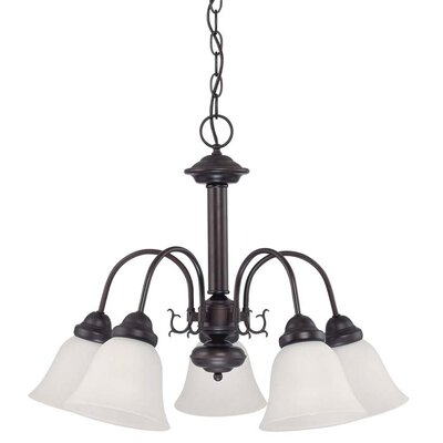 Gurney 5-Light Glass Shaded Chandelier Energy Star: Yes