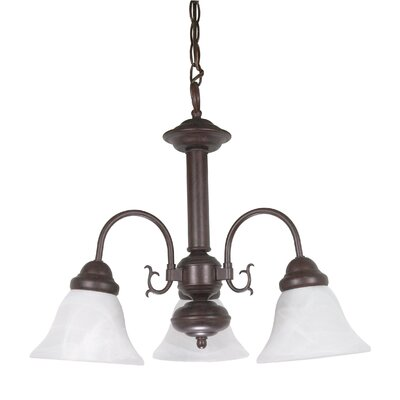 Gurney 3-Light Glass Shaded Chandelier