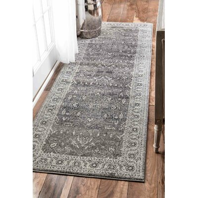 Earles Dark Gray Area Rug Rug Size: Runner 28 x 8