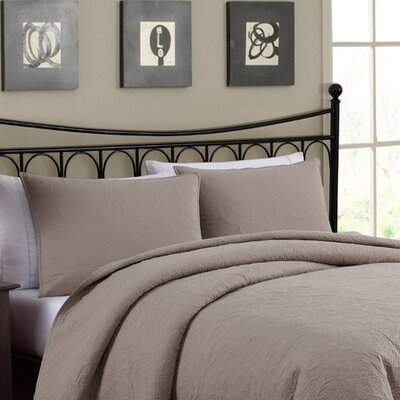 Pennsburg Solid Embroidered Sham Color: Gray