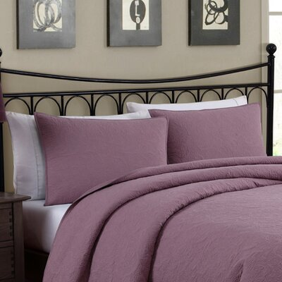 Pennsburg Solid Embroidered Sham Color: Plum