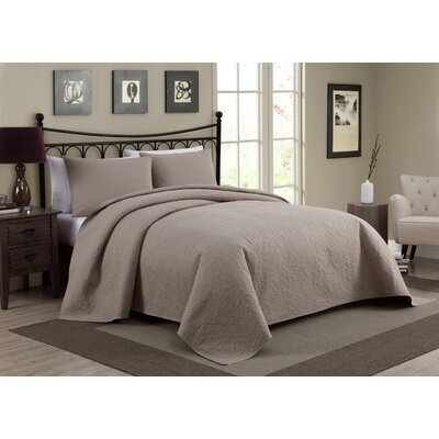 Pennville 1 Piece Bedspread Set Color: Gray, Size: King