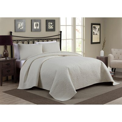 Pennville 1 Piece Bedspread Set Color: Ivory, Size: Queen