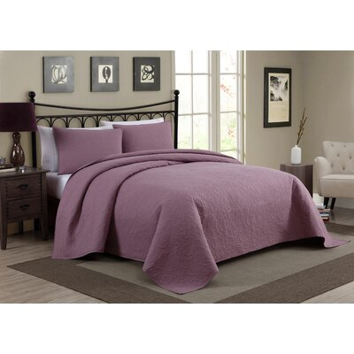 Pennville 1 Piece Bedspread Set Color: Plum, Size: Queen
