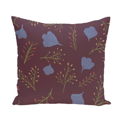 Orchard Lane Spring Blooms Floral Outdoor Throw Pillow Size: 20 H x 20 W, Color: Purple