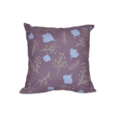 Orchard Lane Spring Blooms Floral Outdoor Throw Pillow Size: 16 H x 16 W, Color: Purple