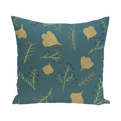 Orchard Lane Spring Blooms Floral Outdoor Throw Pillow Size: 20 H x 20 W, Color: Teal
