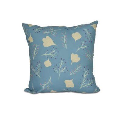 Orchard Lane Spring Blooms Floral Outdoor Throw Pillow Size: 18 H x 18 W, Color: Teal