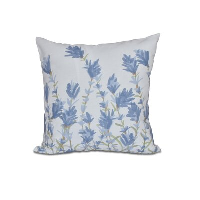 Orchard Lane Lavender Floral Outdoor Throw Pillow Size: 18 H x 18 W