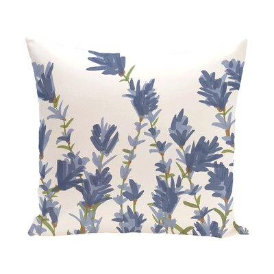 Orchard Lane Lavender Floral Outdoor Throw Pillow Size: 20 H x 20 W
