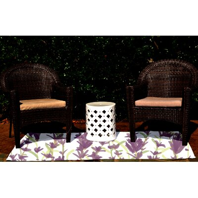 Orchard Lane Purple Indoor/Outdoor Area Rug Rug Size: 3 x 5