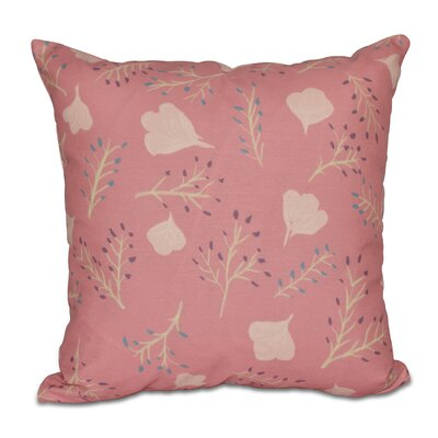 Orchard Lane Spring Floral Throw Pillow Size: 16 H x 16 W, Color: Coral