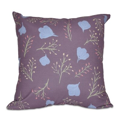 Orchard Lane Spring Floral Throw Pillow Size: 16 H x 16 W, Color: Purple