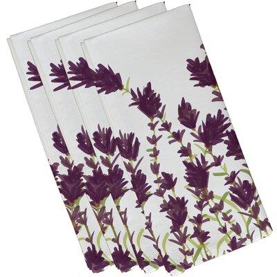Orchard Lane Lavender Floral Napkin Size: 19