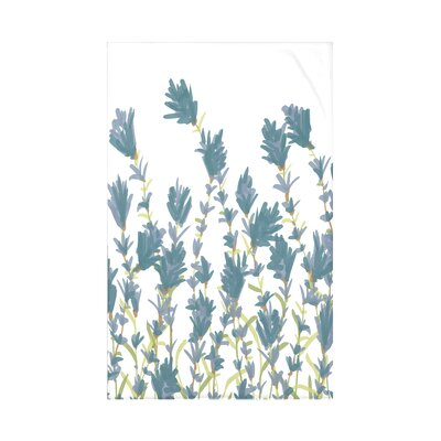 Orchard Lane Lavender Floral Fleece Throw Blanket Size: 60 L x 50 W x 0.5 D, Color: Blue