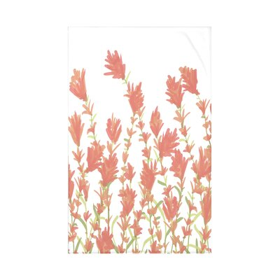 Orchard Lane Lavender Floral Fleece Throw Blanket Size: 60 L x 50 W x 0.5 D, Color: Coral