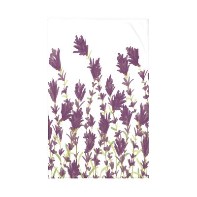 Orchard Lane Lavender Floral Fleece Throw Blanket Size: 60 L x 50 W x 0.5 D, Color: Purple