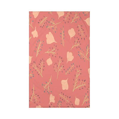 Orchard Lane Spring Blooms Floral Fleece Throw Blanket