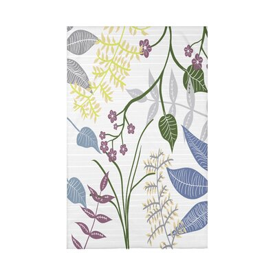 Orchard Lane Botanical Floral Fleece Throw Blanket Size: 60 L x 50 W x 0.5 D, Color: Gray