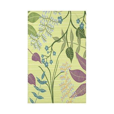 Orchard Lane Botanical Floral Fleece Throw Blanket Size: 60 L x 50 W x 0.5 D, Color: Green