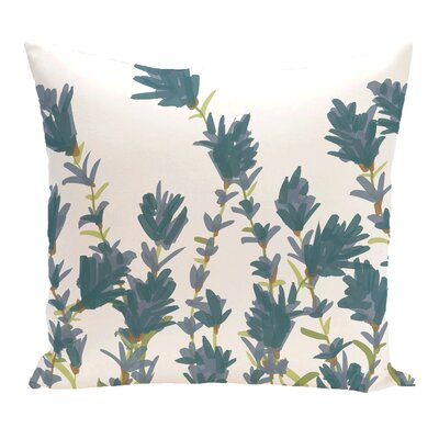 Orchard Lane Lavender Floral Outdoor Throw Pillow Color: Blue, Size: 20