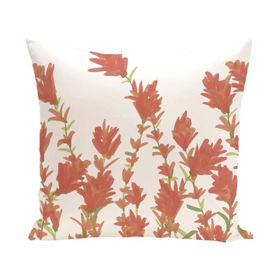 Orchard Lane Lavender Throw Pillow Size: 18 H x 18 W, Color: Coral
