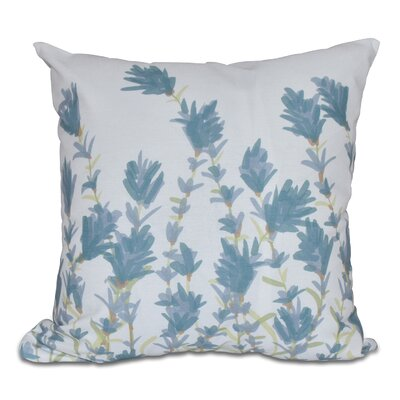 Orchard Lane Lavender Floral Throw Pillow Color: Blue, Size: 26 H x 26 W