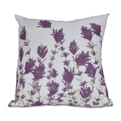 Orchard Lane Lavender Throw Pillow Size: 18 H x 18 W, Color: Purple