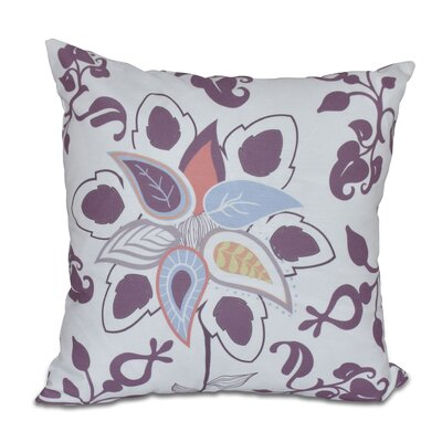 Orchard Lane Paisley Pop Floral Throw Pillow Size: 16