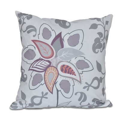 Orchard Lane Paisley Pop Floral Throw Pillow Size: 18 H x 18 W, Color: Gray