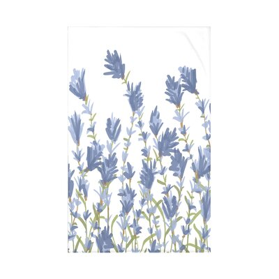 Orchard Lane Lavender Floral Fleece Throw Blanket