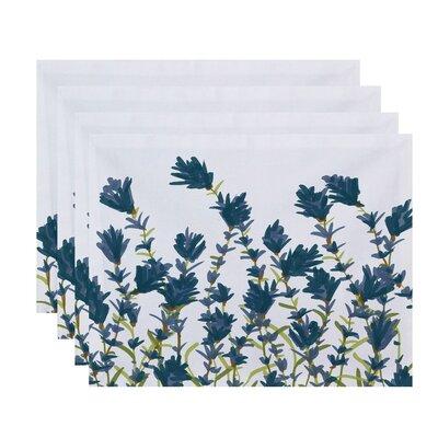 Orchard Lane Lavender Floral Placemat Color: Blue