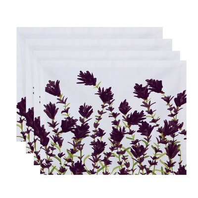 Orchard Lane Lavender Floral Placemat Color: Purple