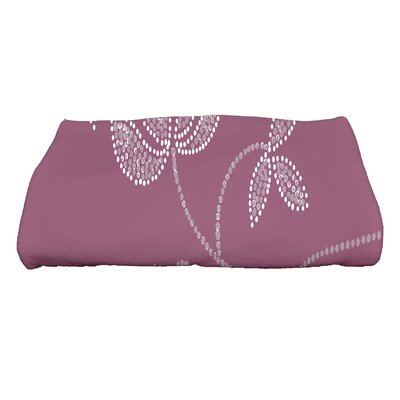 Orchard Lane Traditional Flower Bath Towel Color: Purple