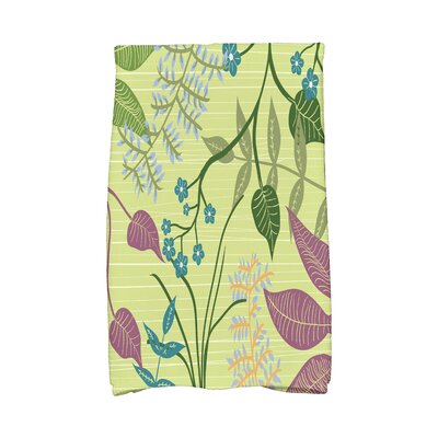 Orchard Lane Botanical Floral Print Hand Towel Color: Green