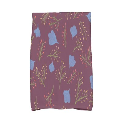 Orchard Lane Spring Floral Print Hand Towel Color: Purple