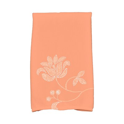 Orchard Lane Traditional Flower-Single Bloom Hand Towel Color: Coral