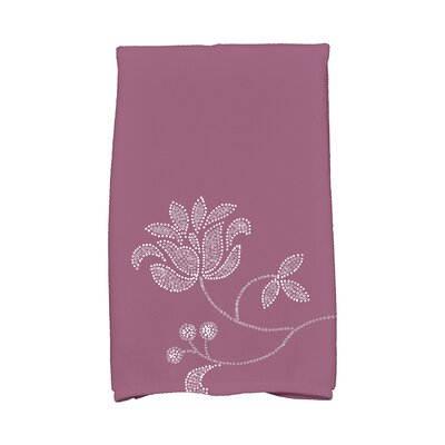 Maniteau Traditional Flower-Single Bloom Hand Towel Color: Purple