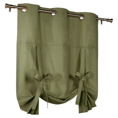 Hopedale Semi-Sheer Tie-Up Shade Color: Sage