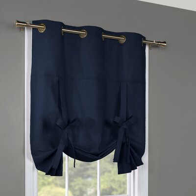 Hopedale Semi-Sheer Tie-Up Shade Color: Navy