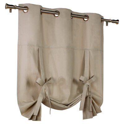 Hopedale Semi-Sheer Tie-Up Shade Color: Khaki