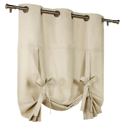 Hopedale Semi-Sheer Tie-Up Shade Color: Natural