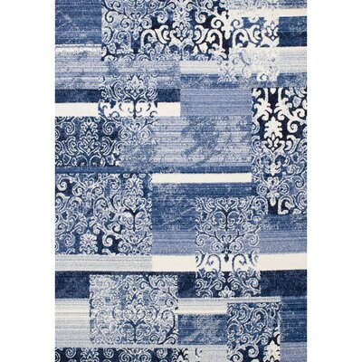 Northampton Bone/Light Blue Area Rug Rug Size: 5' x 7'